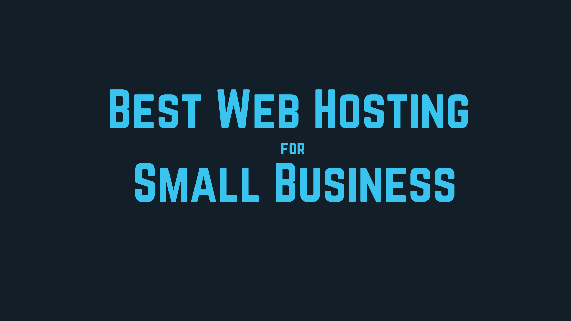 web hosting for small business