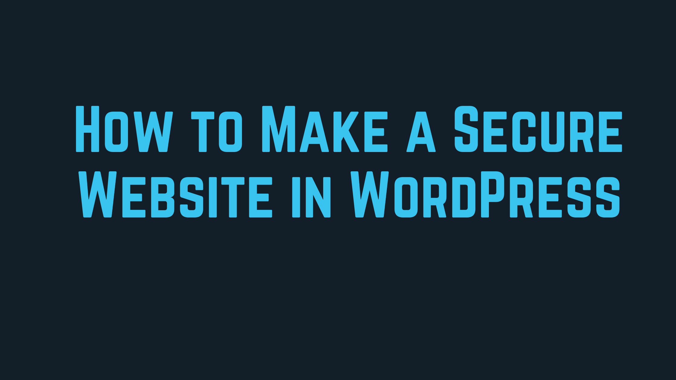 how to make secure website