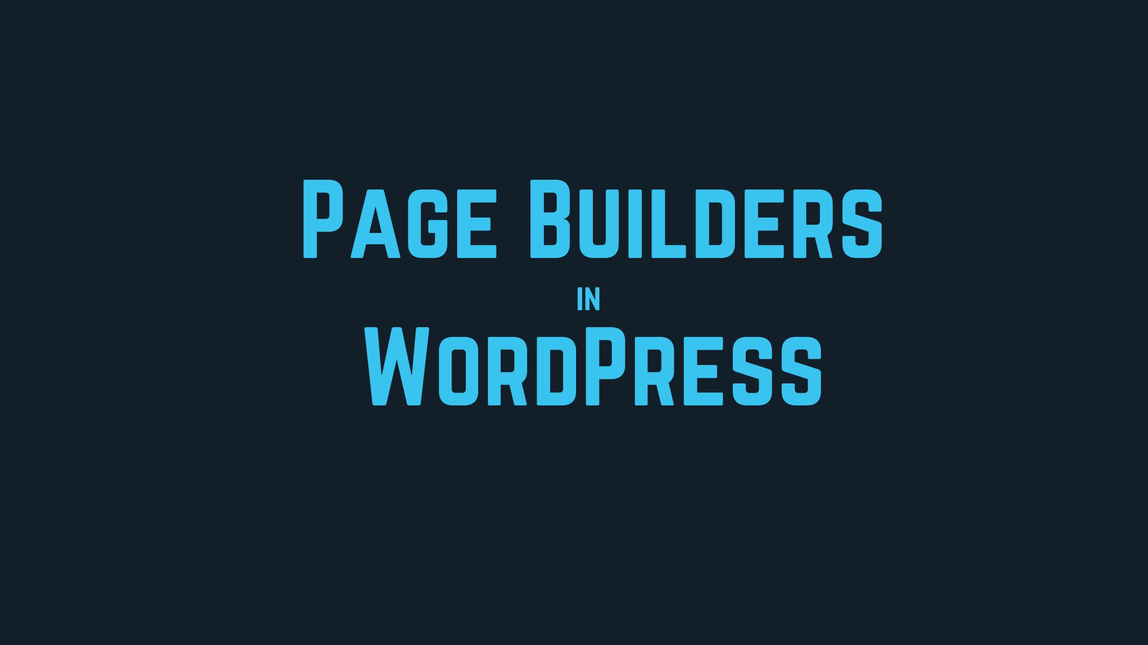 best page builder in wordpress
